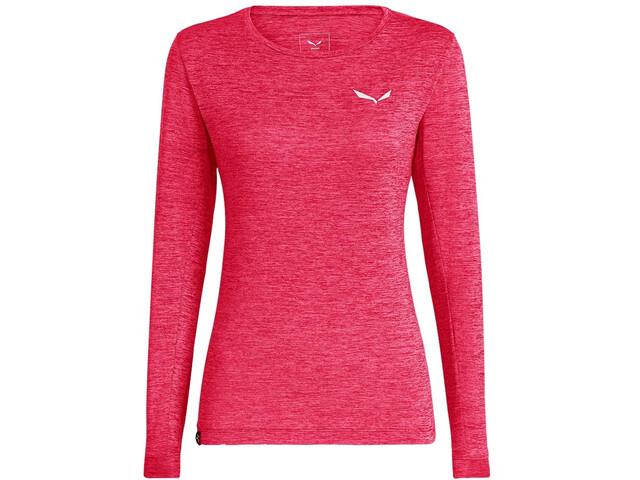 SALEWA Puez Melange Dry T-shirt à manches longues Femme, rouge red melange